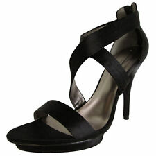 High (3 in. and Up) Leather Open Toe Medium (B, M) Heels for Women