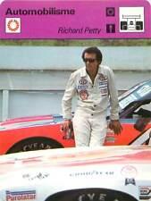 FICHE CARD Pilote Richard Petty Stock-Car Champion Nascar Timmonsville USA 70s