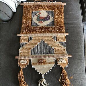 Don Freedman (not-verified) Vintage Woven Fiber Textile Wall Art Hanging Bird