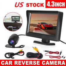 "Car Rear View Kit 4.3"" TFT LCD Monitor +170° HD Reversing Camera Night Vision US"