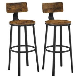 Set di 2 Sgabelli da Bar con Schienale Sgabelli Alti Sgabelli Cucina LBC026B01