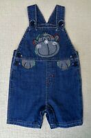 M&Co Baby Boys Cotton Denim Blue Character Short Dungarees Romper 9-12 months