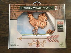 Good Directions Copper Rooster Garden Weathervane
