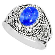 Lazulisolitaire Ring Size 7.5 R74703 Wholesale 2.92cts Natural Blue Lapis