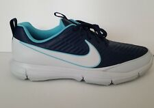 Nike Explorer 2 Golf Shoes White Navy Blue Light Blue SZ 10 ( 849957-400 )