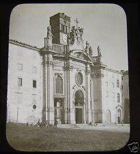 Glass Magic lantern Slide CHURCH OF S CROCE IN GERUSALEMME ROME C1890 ITALY