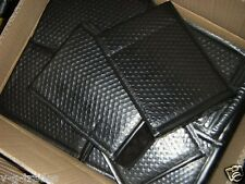 LOT OF 10 BLACK  - 6X10 POLY BUBBLE SHIPPING MAILERS #0 USABLE 6X9  ENVELOPES