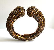 Butler and Wilson Tubular Topaz Quartz Sapphire Garnet Bangle Bracelet NEW