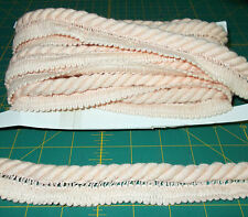 "4 3/4 yards  X 1""  PEACH COTTON TWISTED CORD UPHOLSTERY PILLOW SEWING Trim"