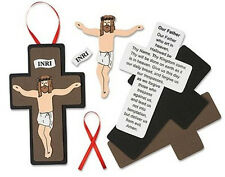 Childrens Our Father Christ Crucifix Church Sunday School Foam Arts & Crafts Kit