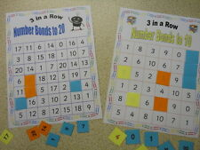 Teaching Resources - Numeracy - Number Bonds  3 in a Row Games ( to10 and 20)