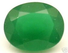 10x8 mm 2.65 cts oval Facet Green Created Jade