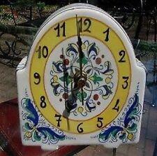 Deruta Majolica RICCO Table Clock - NEW!
