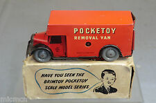 VINTAGE BRIMTOY POCKET TOYS MODEL No. 9/508 CLOCKWORK  REMOVAL VAN   VN MIB