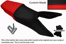 BLACK & RED CUSTOM FITS HONDA VFR 750 F 90-93 DUAL LEATHER SEAT COVER