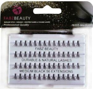 Individual Eyelashes False Durable Eye lashes Flare Cluster Volume Fabz Beauty