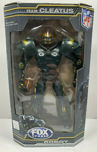 """NFL Greenbay Packers Fox Sports Robot """"Team Cleatus"""" Action Figure Toy 2009 Rare"""