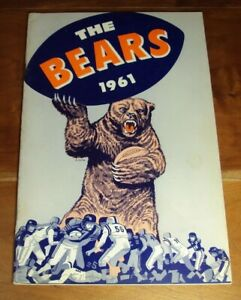 1961 Chicago Bears Yearbook Media Guide EXMT+ George Halas Mike Ditka Fortunato