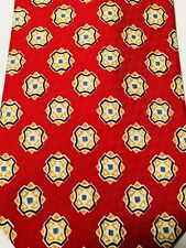 Guess Red Diamonds Pattern 100% Silk Tie Made in USA