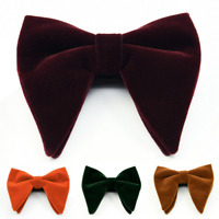 Men Suit Bow Tie Tuxedo Bowtie Wedding Groom Dinner Oversized Necktie Adjustable