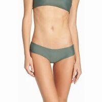 Mikoh Women's Swimwear Solid Olive Green Size XS Low Rise Bikini Bottom $90 338
