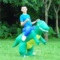 Ride On Dinosaur Fancy Dress Men Women Inflatable Costume Adult Halloween Suit