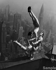 Empire State Building Acrobats Balance 1934 Black & White Photo Print Picture