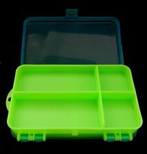 Small Green / Blue Two-Sided Plastic Tacle Box  (No Name) Pocket Size