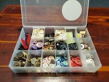 Mixed Lot Vintage assorted buttons sewing in Craft Organizer