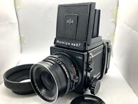 【 EXC+5 】Mamiya RB67 Pro SD + Sekor C 90mm f3.8 + Hood + 120 Filmback From JAPAN