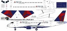 Delta Connection Embraer ERJ 170 1/144 airliner decals for Hasegawa kit