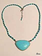 TURQUOISE WITH LAPIS LAZULI NECKLACE, SS