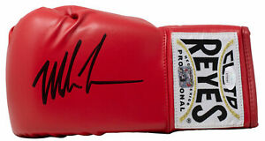 Mike Tyson Signed Left Hand Red Cleto Reyes Boxing Glove JSA ITP