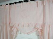 Raff Gardine CRYSTAL NY Lachs Rosa 160x90 Spitze bestickt LillaBelle Landhaus
