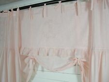 LillaBelle CRYSTAL NY Rosa Raff Gardine 160x90 Spitze bestickt Landhaus Curtain