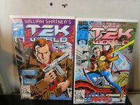 TEK WORLD #1-2 LOT , Marvel Epic Comics, 1992 , William Shatner bagged boarded