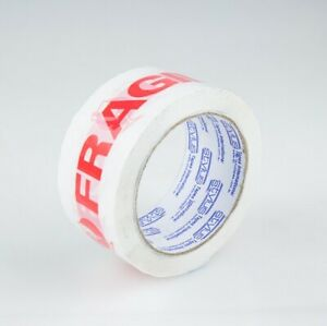 Stylus SP250 Fragile Printed Tape – Red/White 48mm x 66mtr