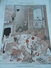 Le Lendemain du Revillon Les ramasseurs de Miettes Print Art Déco 1911