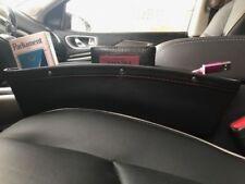 2X Leather Car Seat Storage Organizer Caddy Pouch Pocket Catch Gap Toyota Logo