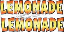 "Lemonade Decal (2) 18"" Concession Trailer Food Truck Restaurant Vinyl Letters"