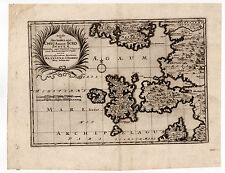 GREECE MAP OF CHIOS MERIAN 1629 SCIO