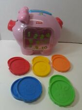 Fisher Price Preschool Electronic Pig Piggy Bank Counting Music Educational Toy