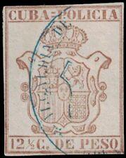 1880s 1CUBA Revenue Stamp - Policia 12 1/2 Centavos A18R
