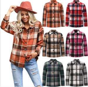 Explosion Autumn And Winter Women's coat The New Thicken Plaid shirt