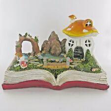 Fairy Garden Mushroom House Magic Book Scene Decor Novelty Sculpture 80281