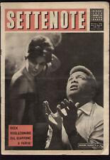 SETTENOTE 10/1961 CONNIE FRANCIS NINI ROSSO LUMINI TONOOKA HATSUE NIPPON BALLET