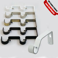 New Curtain Pole Rod Wall Bracket Holder Heavy Duty Metal Curtain Holder Rod UK