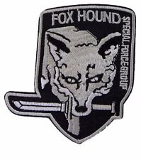 "Metal Gear Solid Gray Fox Hound 3 1/2"" Tall Embroidered Costume Patch"