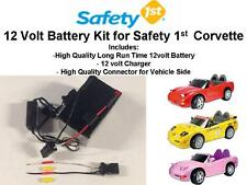 NEW! 12V LONG RANGE OEM BATTERY KIT FOR THE SAFETY 1ST CORVETTE CAR