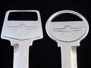 FORD THUNDERBIRD OEM KEY BLANK SET fits all 1965-1984 NOS T-Bird 1966 1967 1968